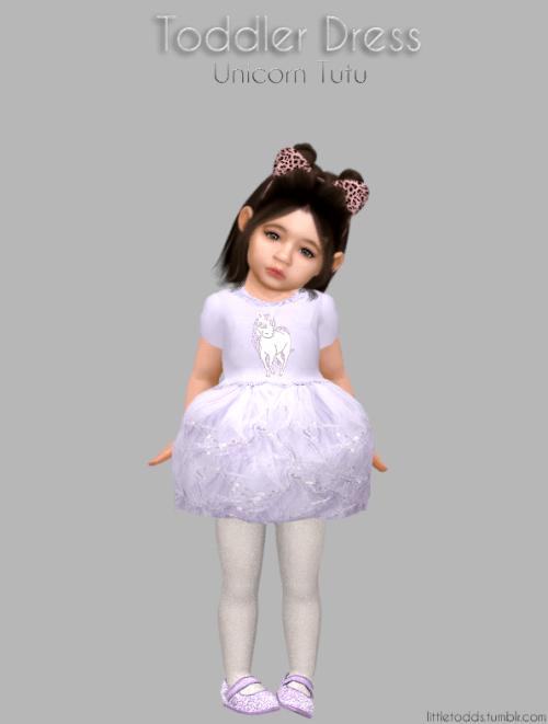 Toddler Unicorn Tutu Dress For The Sims 4 The Sims 4
