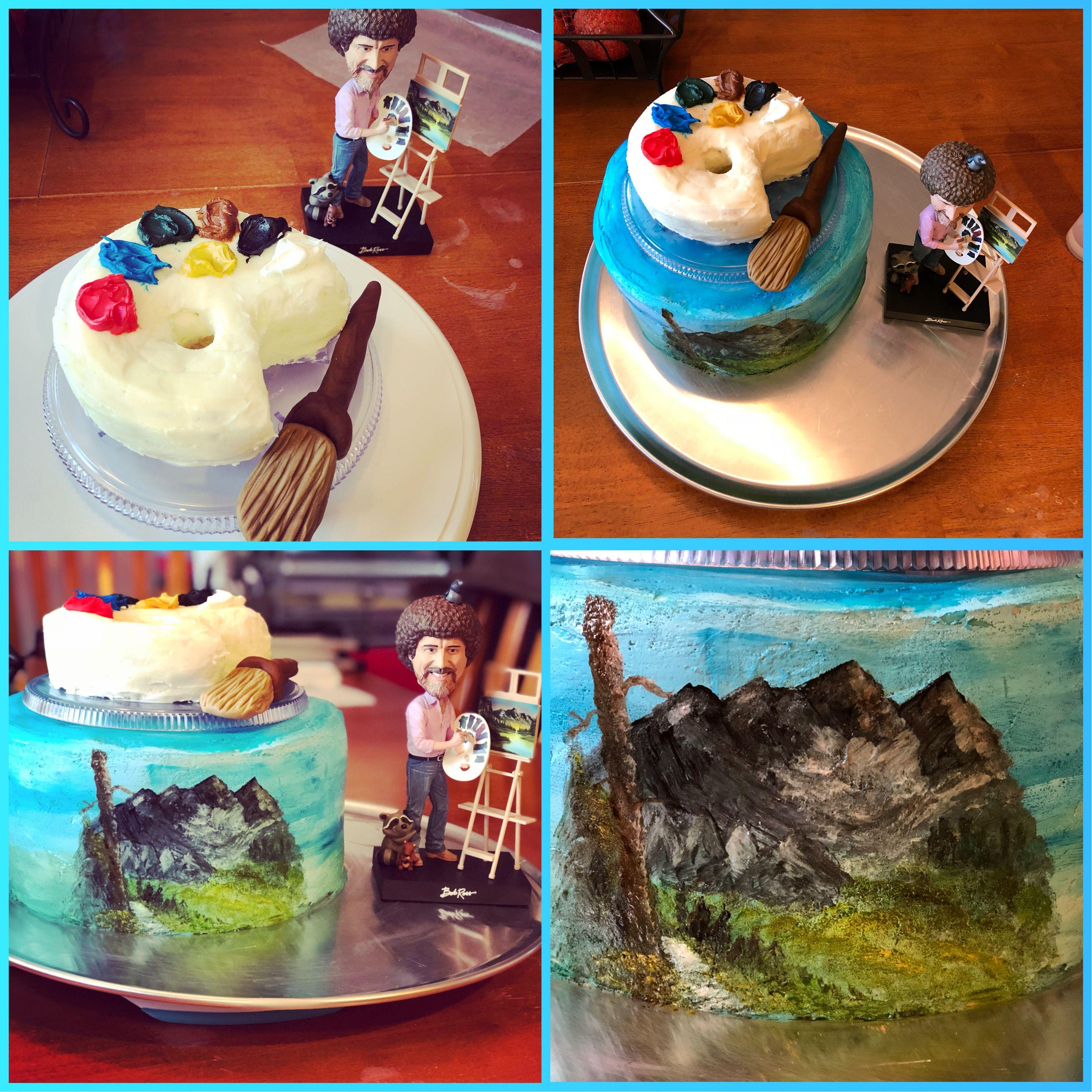 Son S 14th Birthday Cake Bob Ross Cake Bob Ross Birthday 14th Birthday Cakes Bob Ross
