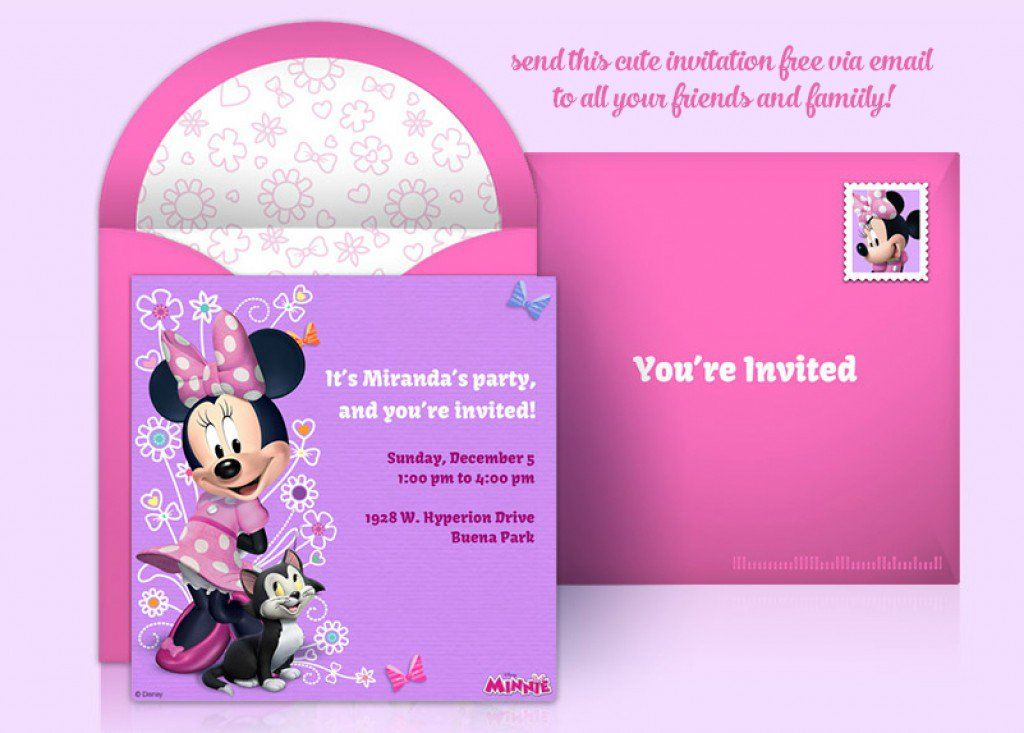 Span Classcaption TextCreate Your Own Minnie Mouse Party Invitation