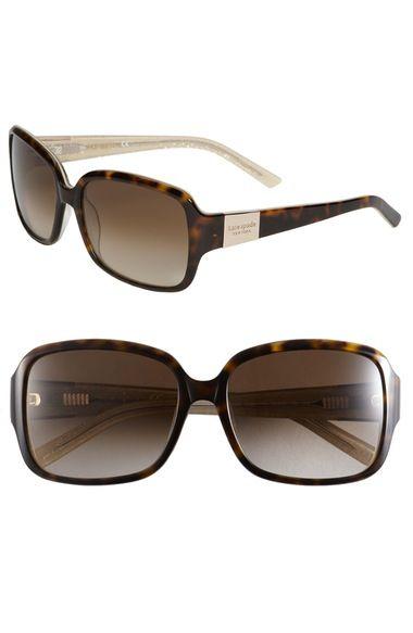 fb02ee5ab84 KATE SPADE  Lulu  55Mm Rectangular Sunglasses.  katespade