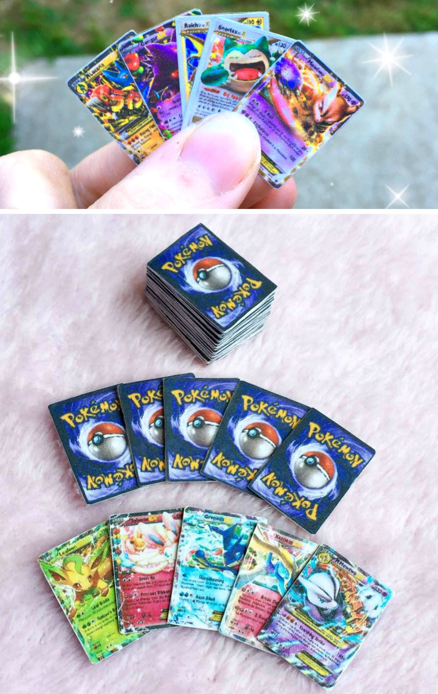 Mini pokemon cards pokemon cards pokemon craft cool