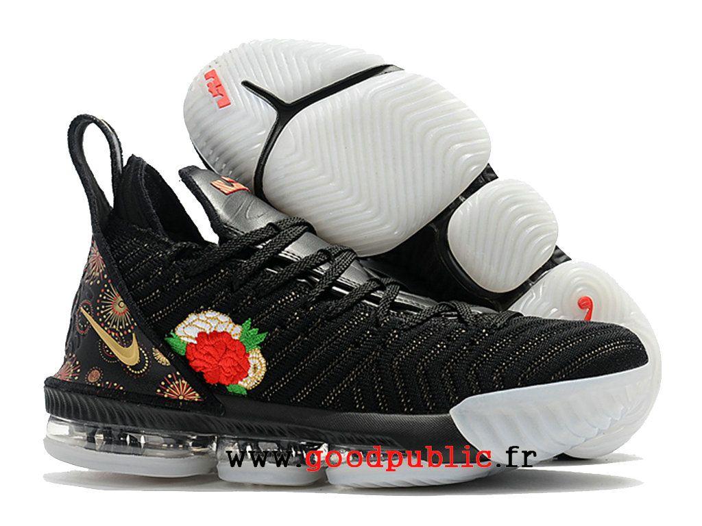 c974c95fb97 Nouveau Nike LeBron 16 Chaussures De BasketBall Pas Cher Prix Homme Or  rouge noir AO2588 I114