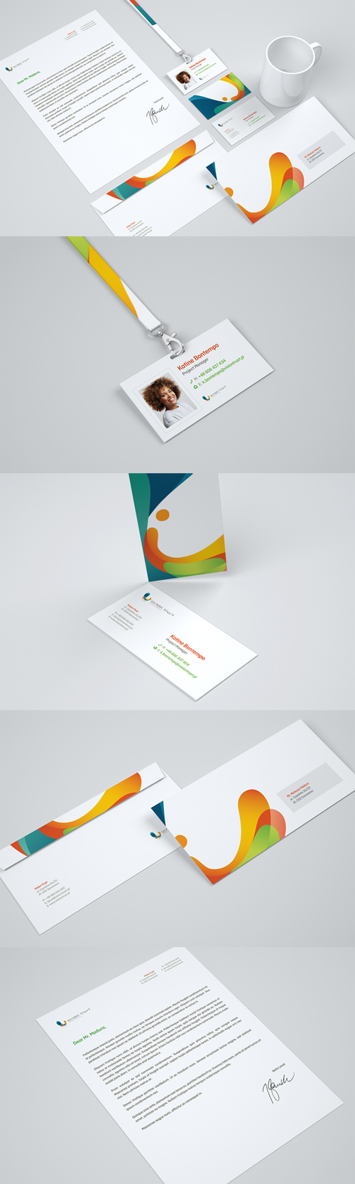 CreativeMarket - Mockup corporate identity 106176