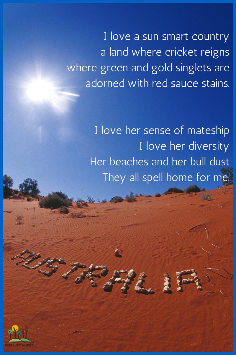 Australia Day Party Poem, Australia and Aussie australia