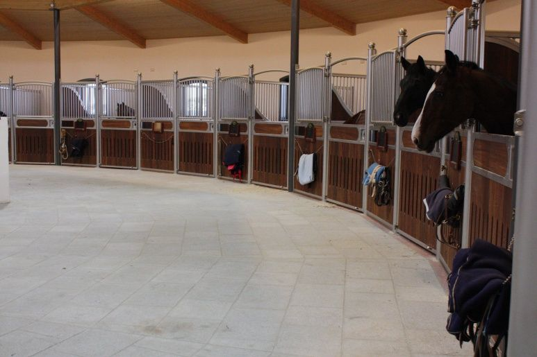 Circular interior neat idea especially if the stalls for Cost of building a horse barn