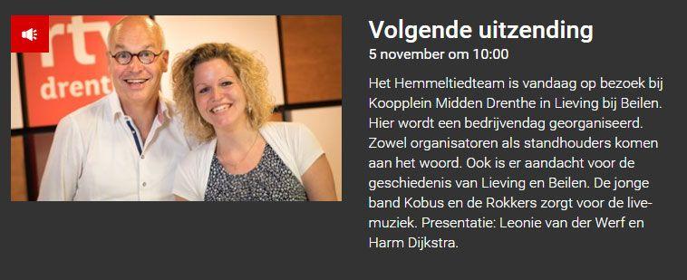 Luister mee of kom gezellig langs :). http://www.rtvdrenthe.nl/radio/programma/17/Hemmeltied