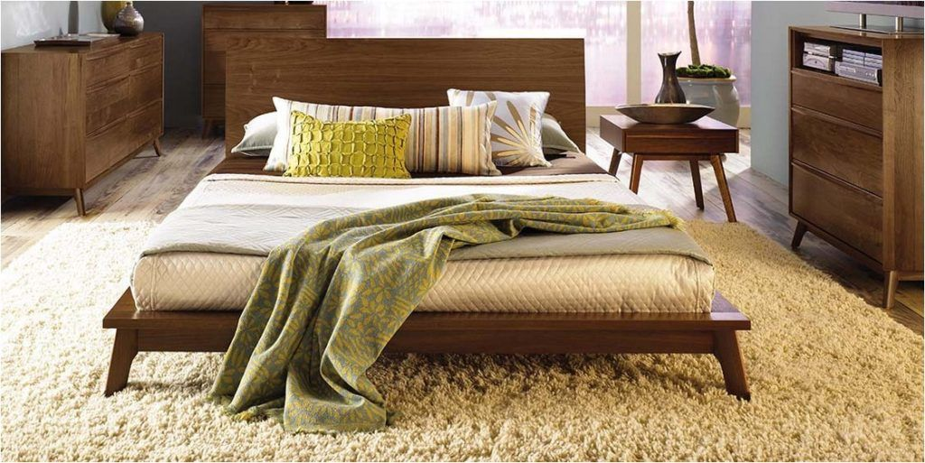Ikea Mid Century Style Modern Natural Color Wood Bedroom ...