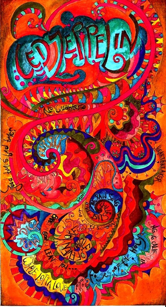Psychedelic Led Zeppelin I ADORE This Poster