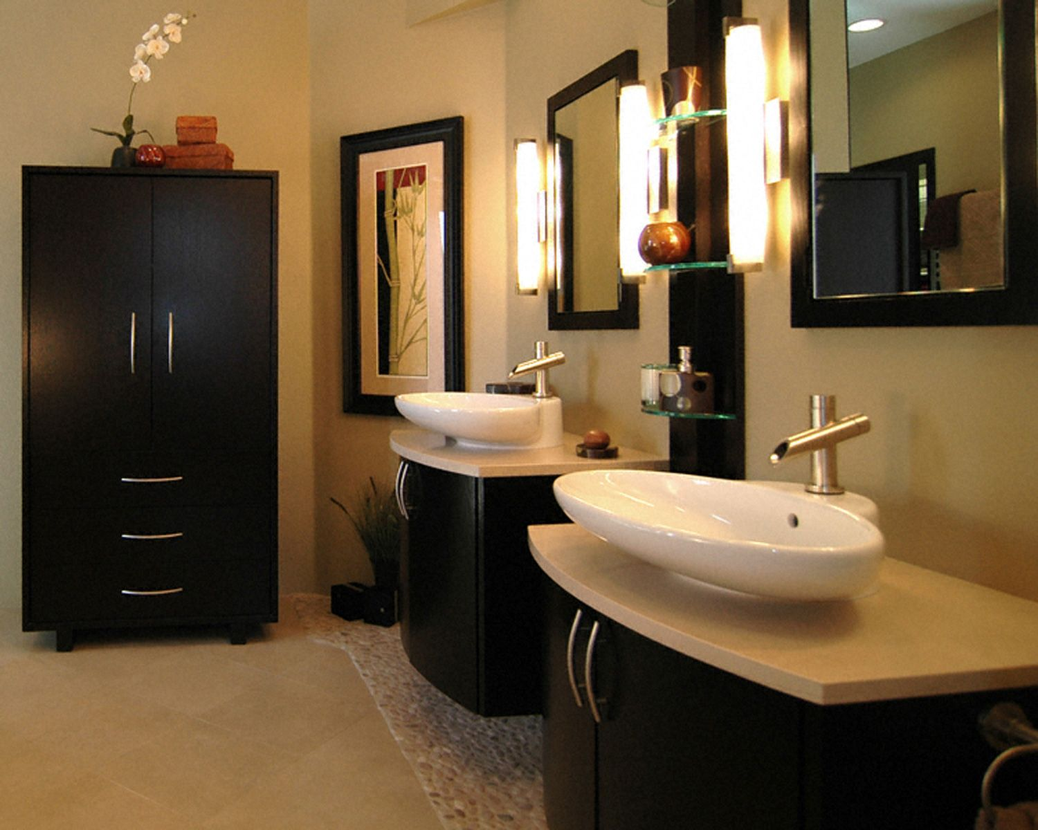 Asian bathroom vanity cabinets - 25 Best Asian Bathroom Design Ideas