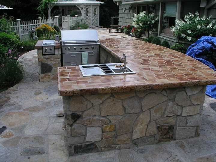 An Outdoor Cooking Island And Bbq Northeastern Homes Outdoor