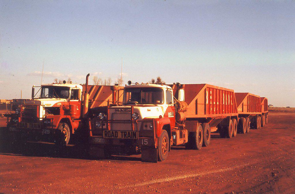 Bell Bros Big trucks, Mack trucks, Road train
