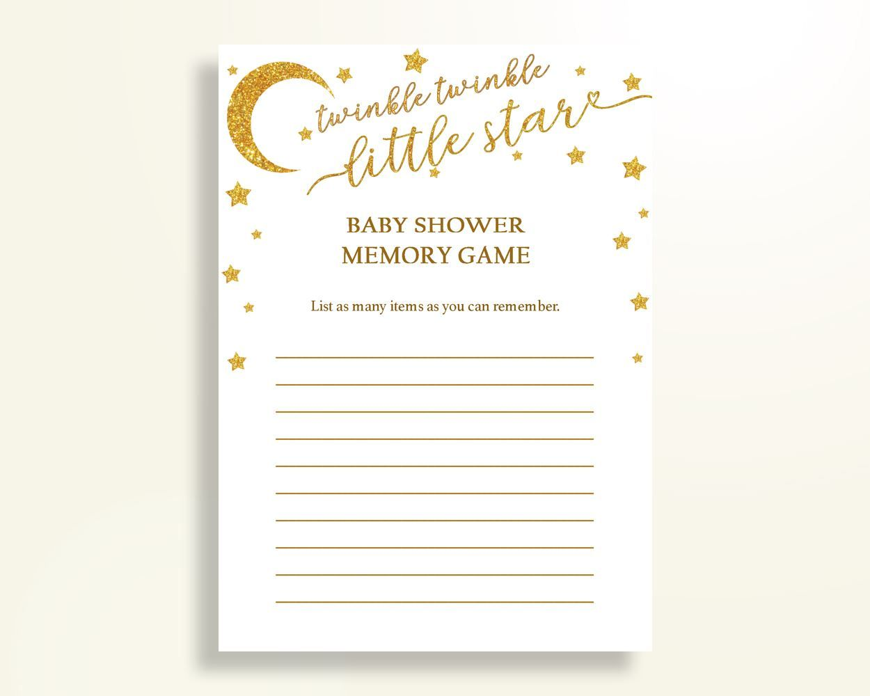Memory Game Baby Shower Memory Game Stars Baby Shower Memory Game Baby  Shower Stars Memory Game