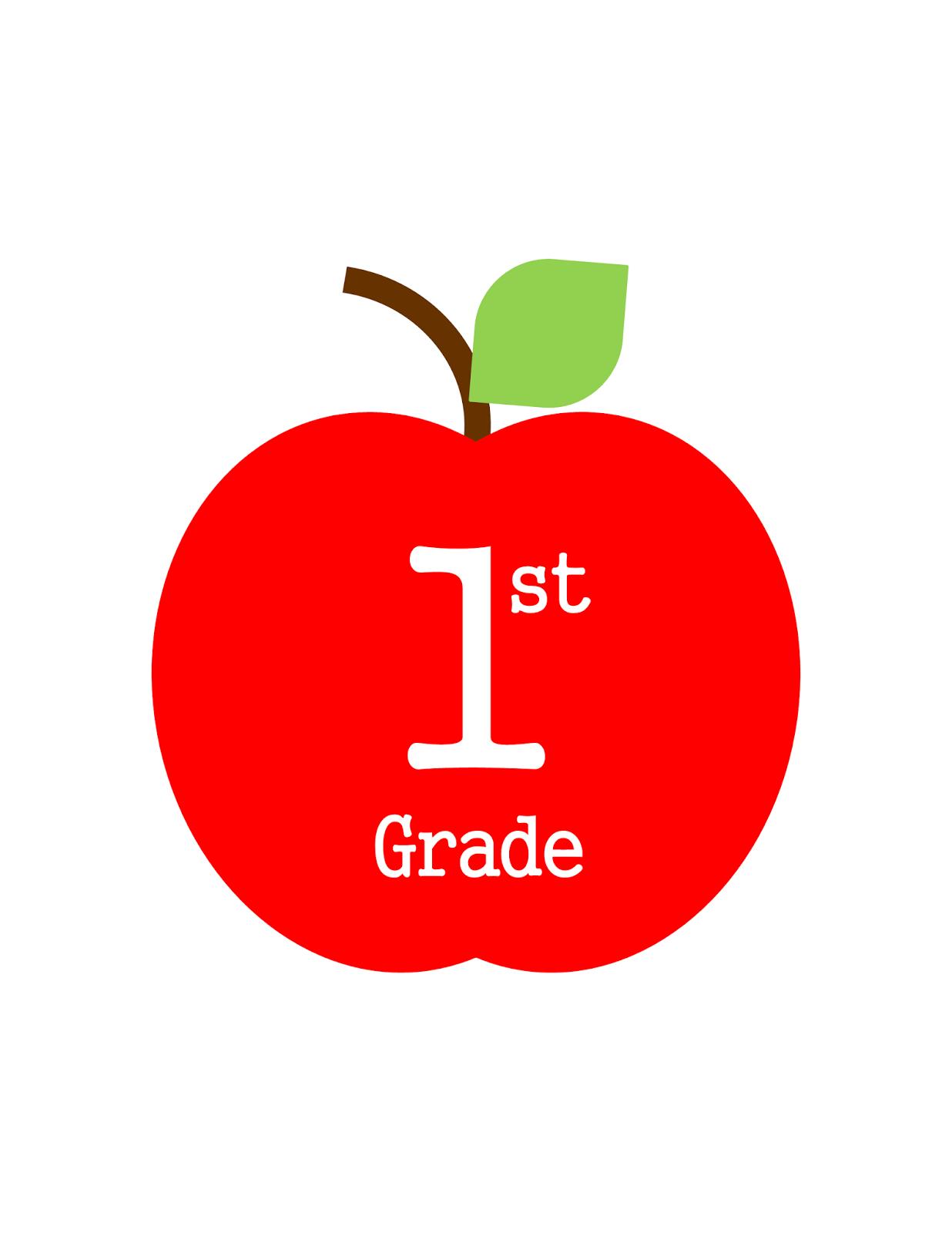 Printable Apple School Binder Covers Has 1st Grade