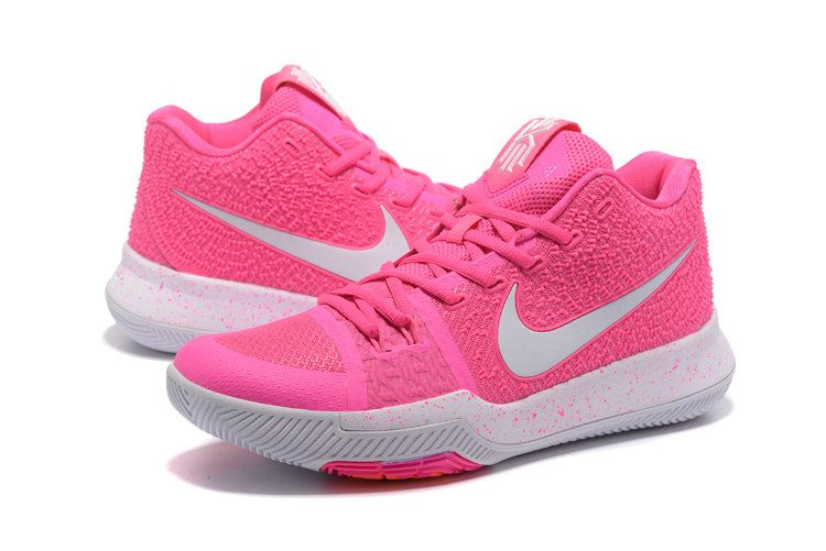 new concept f5af0 1fa08 New Arrival 2018 Mens Nike Kyrie 3 Basketball Shoes Pink White
