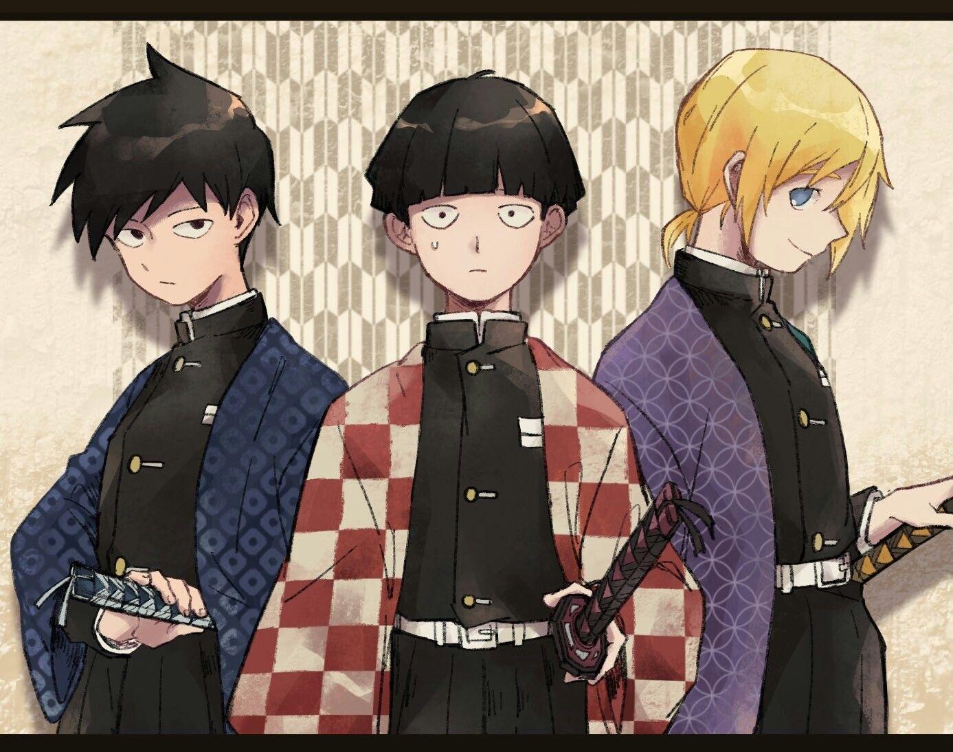 mob psycho 100 x kimetsu no yaiba mob psycho 100 anime mob physco 100 mob psycho 100
