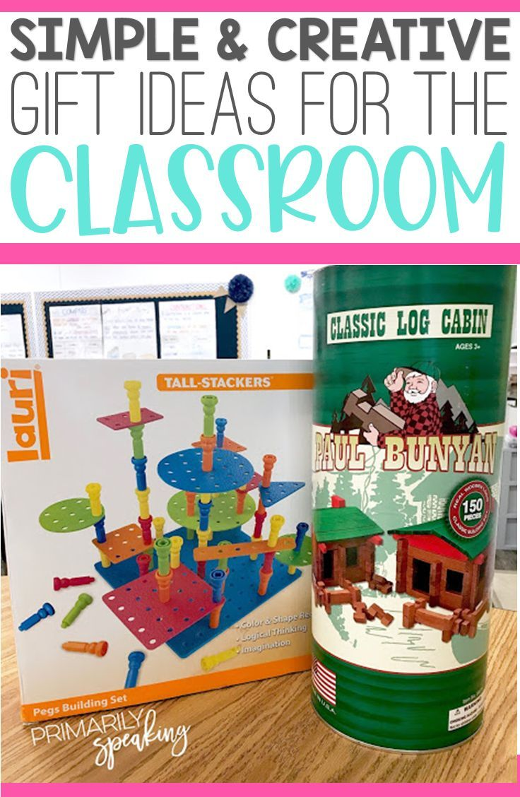 Classroom Gift Guide {2018} Morning tub, or STEM, materials are a great classroom gift idea! I love