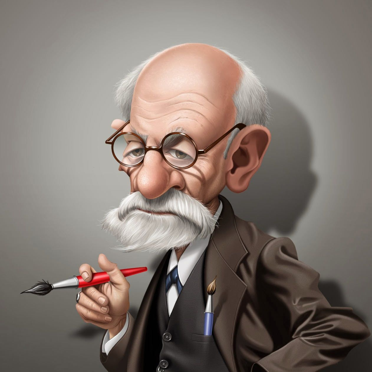 Caricatura de Sigmund Freud | Caricature, Celebrity ...