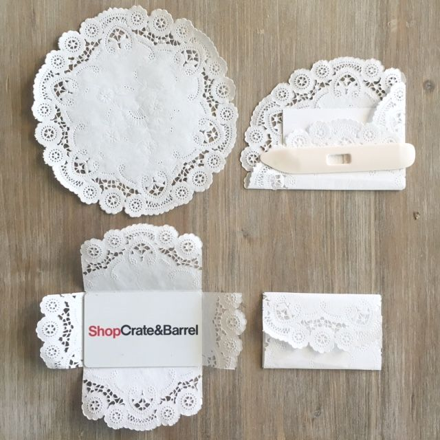 Super Prettie And Easy Paper Doily Gift Card Envelope Diy Making Ordinary