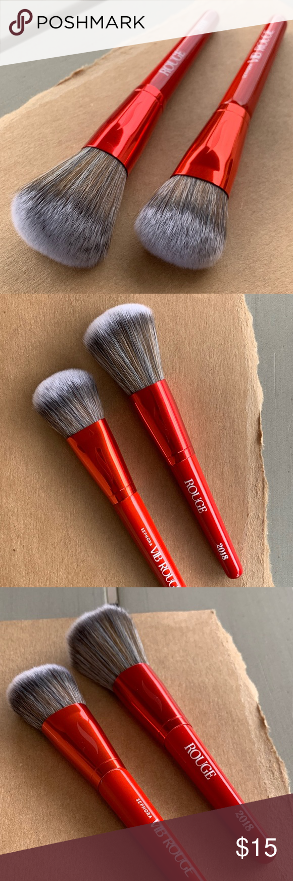Set of 2 Sephora travel size brushes Travel size