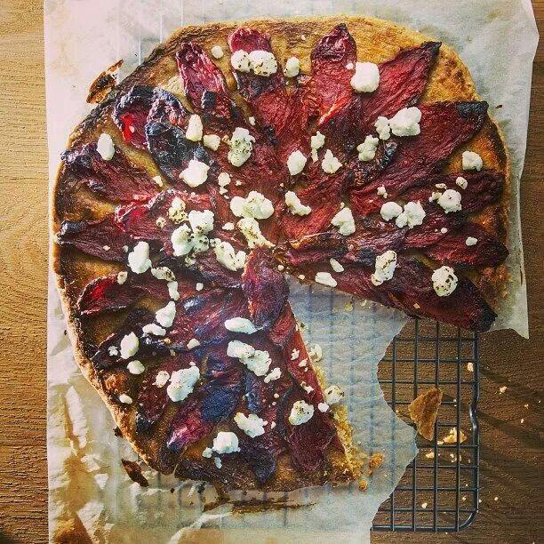 Open-faced Tomato Pie  #TastingTable