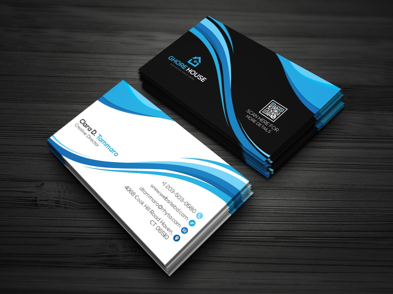Dartist i will design business card template within hrs for