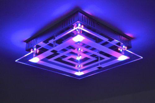 Deckenleuchte mit LED Farbwechsler und Fernbedienung LED - deckenleuchte led wohnzimmer
