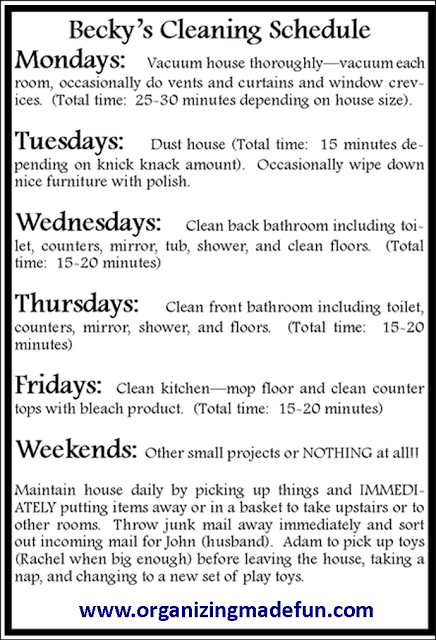 house cleaning how to