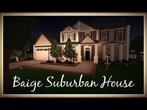 Beige Suburban House 195k Roblox Welcome To Bloxburg Speedbuild Suburban House Luxury House Plans Small House Design Plans