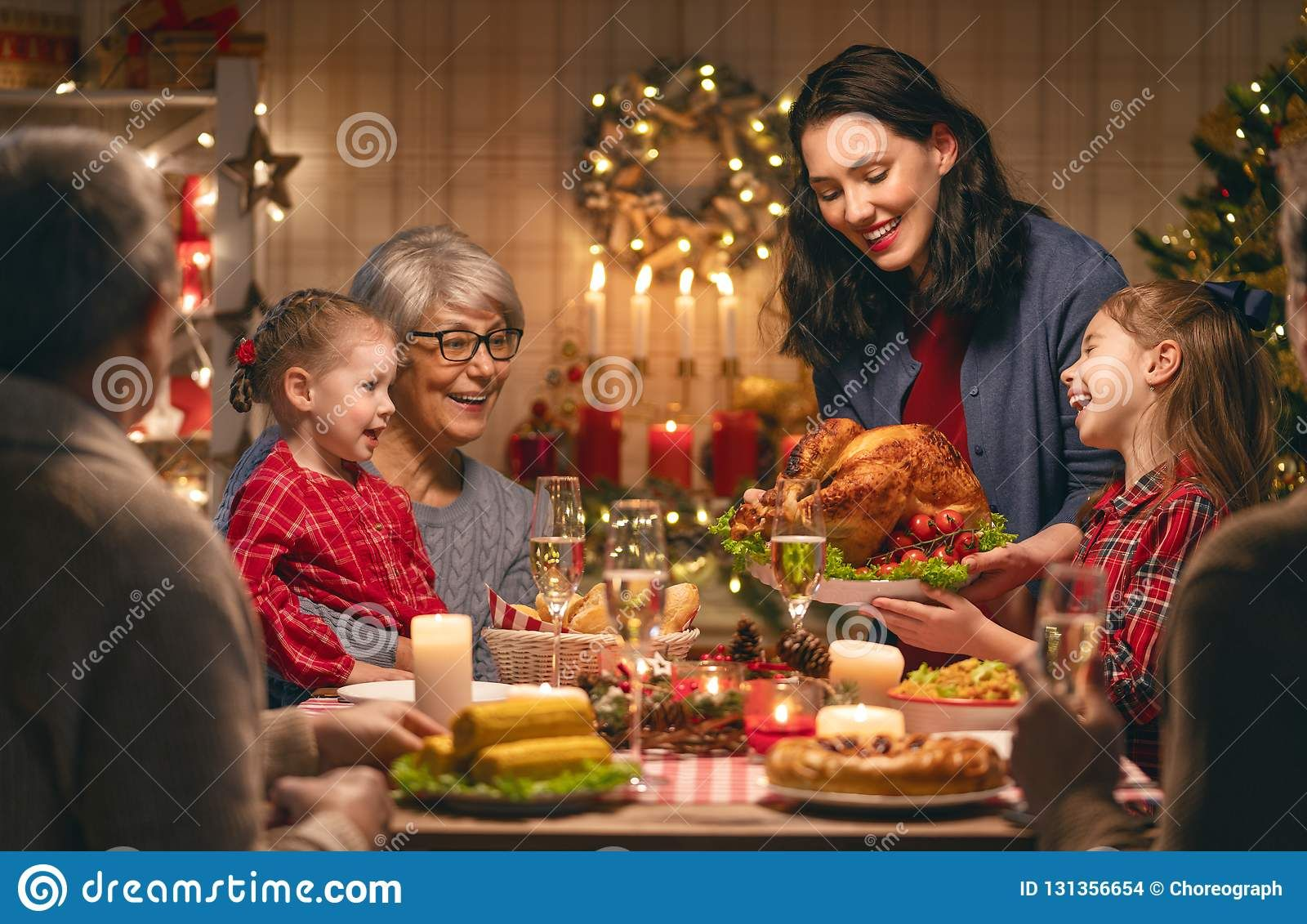 Merry Christmas Family Time Dinner At Home Stockphotos Christmas Christmas Dinner Table Traditional Christmas Dinner Menu Christmas Dinner