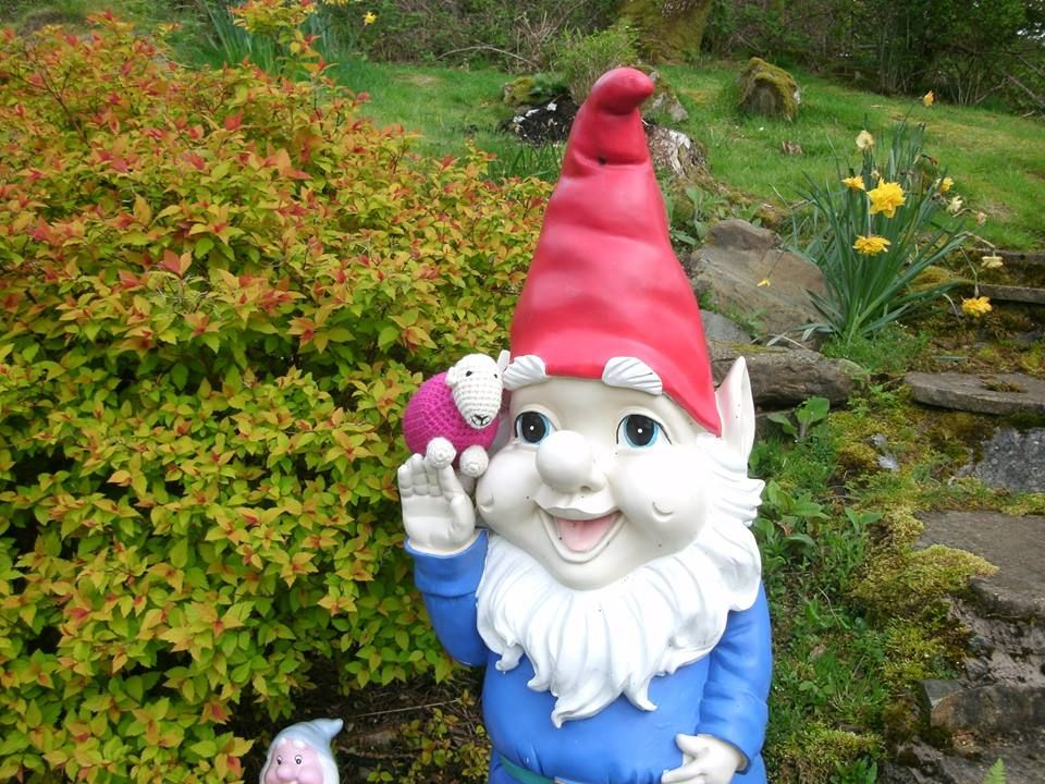 Giant gnome or miniature Herdy? You decide. Christmas
