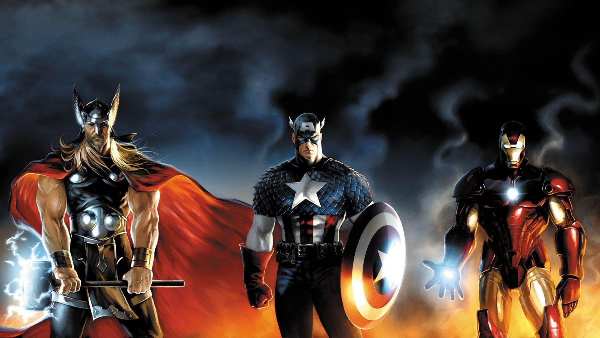 Superheroes Captain America Wallpaper Marvel Artwork Avengers Wallpaper