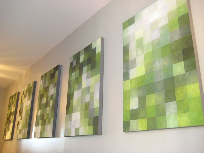 Pixel Paintings Finished Abstract Art Diy Canvas Painting Designs Diy Wall Art