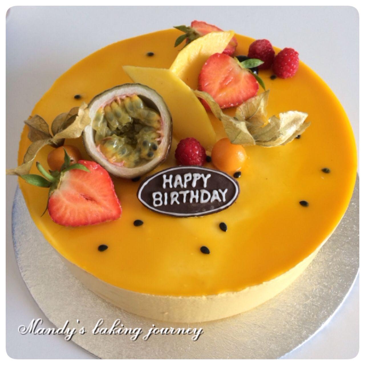 Mango Passion Fruit Mousse Cake Cakes Cake Rollsroulades In 2018