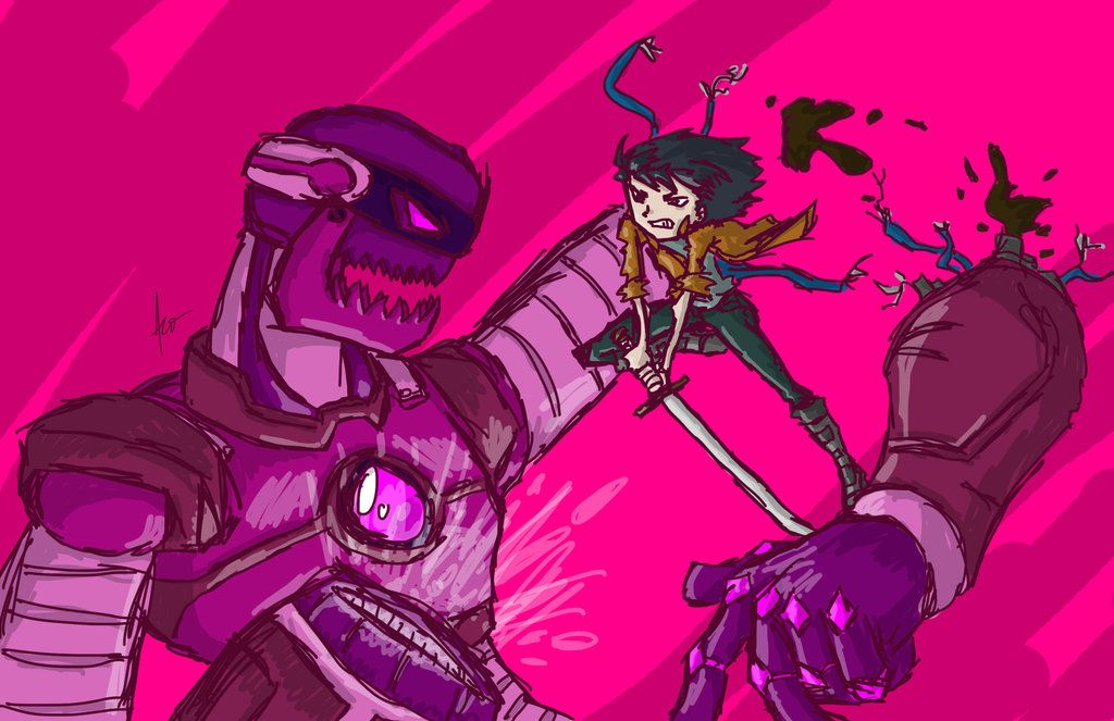 Yoshimi Battles The Pink Robots By Andrewsketches On Deviantart Robot Art Art Drawing Inspiration