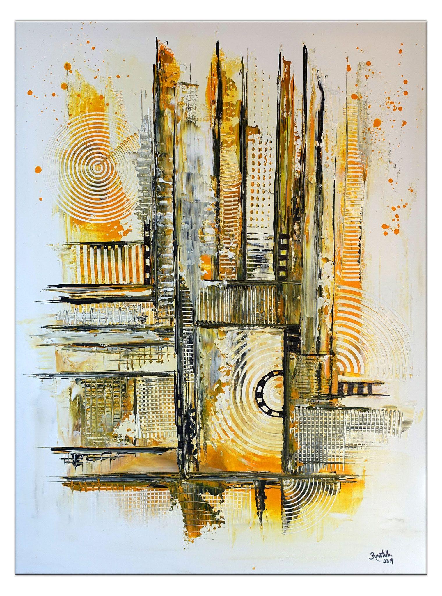 abstraktes leinwandbild handgemalt ocker petrol abstrakte kunst malerei acrylmalerei abstrakt acrylbilder moderne kunstwerke pop art