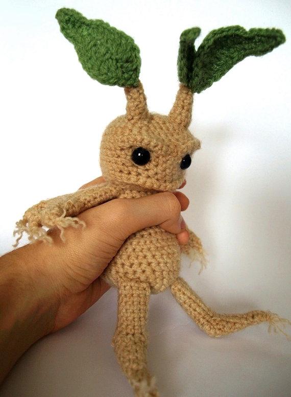 Mandrake - Amigurumi Crochet Pattern | Harry Potter❣ | Pinterest ...