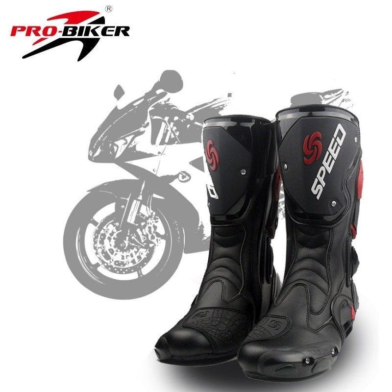 147e3d17eca Motorcycle Boots Motocross Racing Waterproof Leather Moto Shoes Pro ...