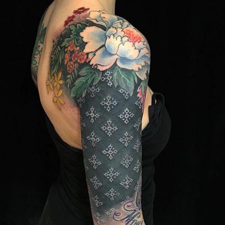 White tattoo ink on black skin by butterfatstudios for White tattoo on black skin