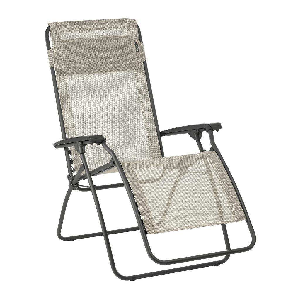 Lafuma Furniture R Clip In Seigle Beige Color With Steel Frame
