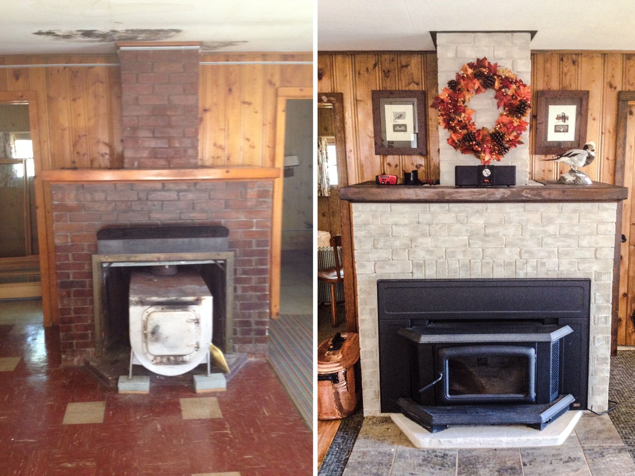 Refurbished My Red Brick Fireplace With Brik Anew