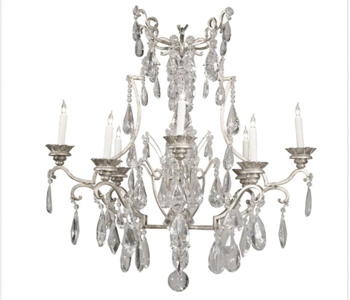 Swedish Interiordesign: In Magical Venetian Silver Leaf, The Crillon Chandelier