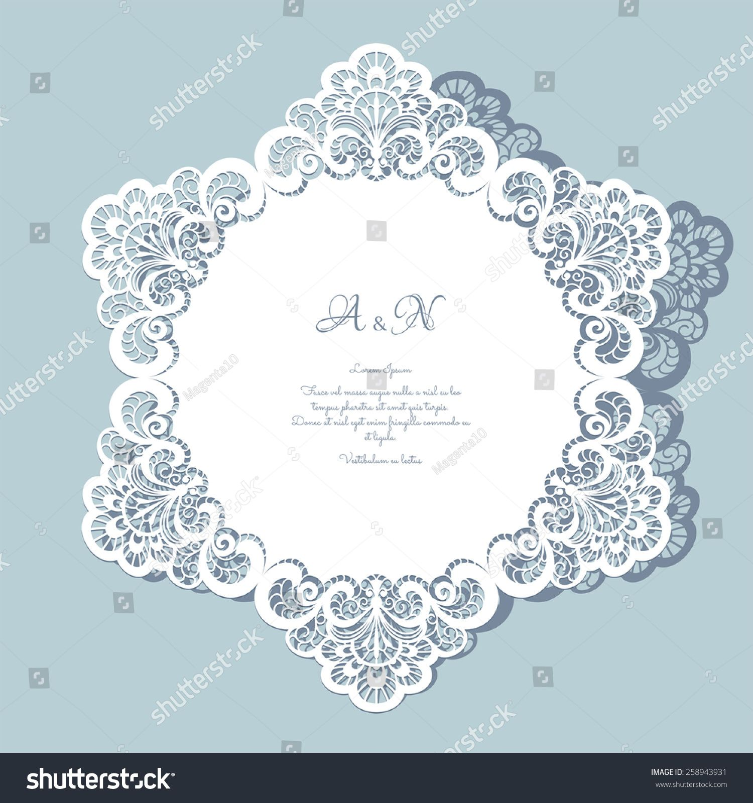 Outstanding Paper Doily Wedding Invitations Images - Invitations ...