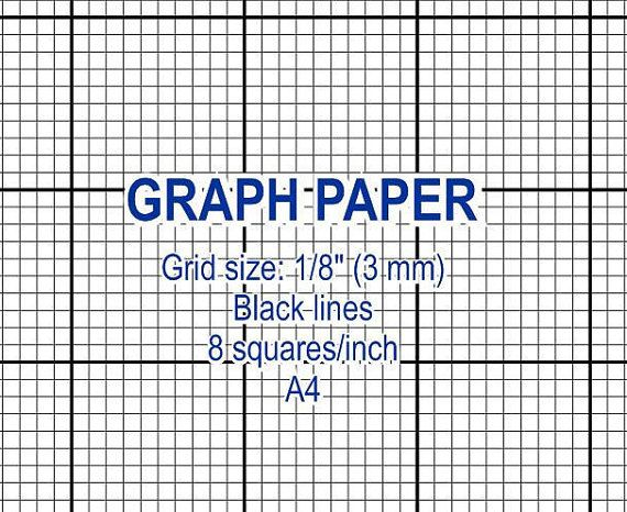 Graph paper, printable 3 mm grid, cross stitch design, 8 squares - cross stitch graph paper