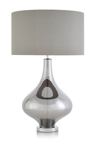 Buy kendra smoked plated glass table lamp from the next uk online buy kendra smoked plated glass table lamp from the next uk online shop aloadofball Image collections