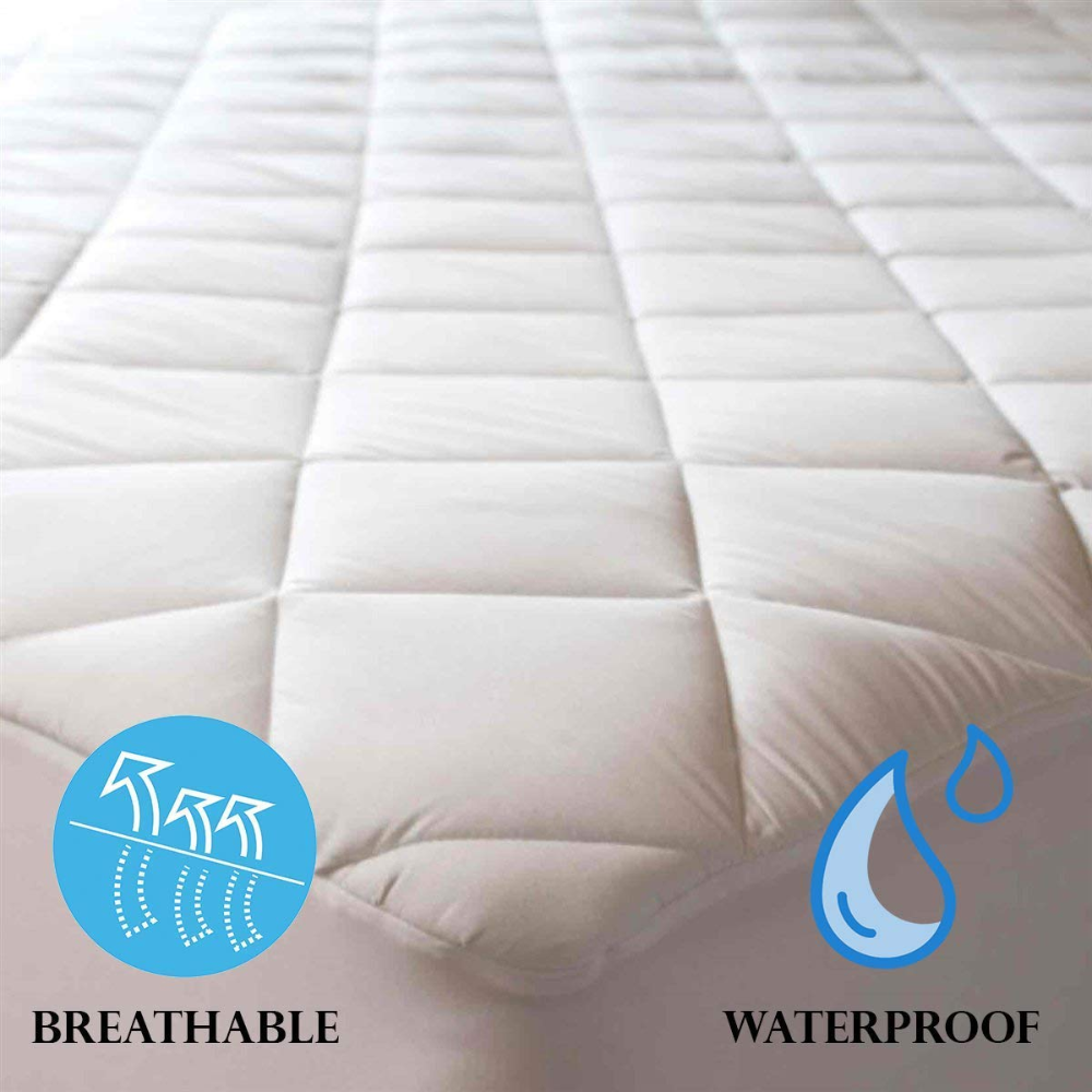 Amazon Com Niagara Sleep Solution 100 Cotton Waterproof Quilted Mattress Protector Cot Bed Size 33x75 Inches In 2020 Mattress Pad Cover Waterproof Quilt Mattress Pad