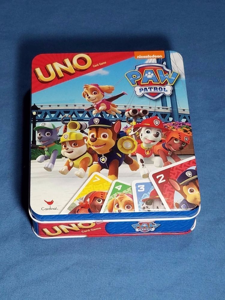 Paw Patrol Uno Card Game Card Images Include Silver Badge Card