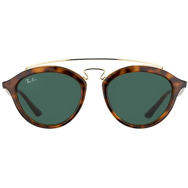814af0e76f6 Ray-Ban Gatsby II RB 4257 710 71 Havana Fashion Plastic Sunglasses -...  (600 RON) ❤ liked on Polyvore featuring accessories