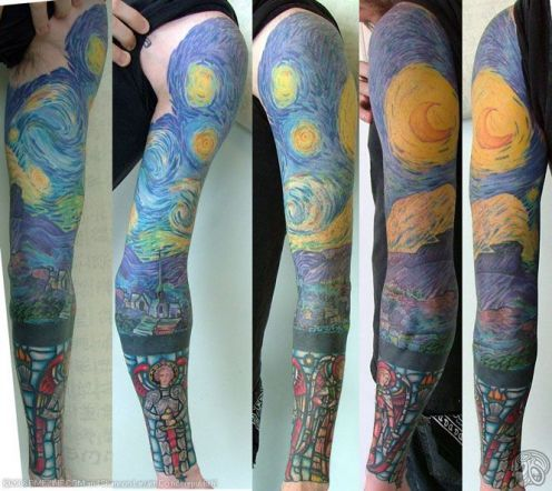 Tattoo Ideas Famous Works Of Art Starry Night Tattoo Night Tattoo Van Gogh Tattoo