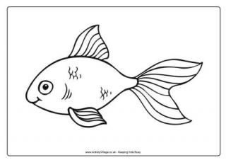 goldfish coloring page # 6