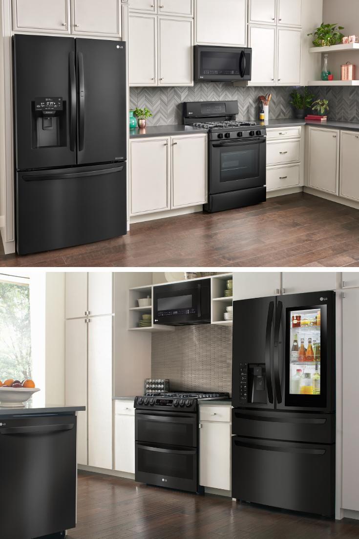 My Dream Lg Matte Black Kitchen Bestbuy Lgus Ad Shabby Chic Boho Slate Appliances Kitchen Black Appliances Kitchen Black Stainless Steel Kitchen
